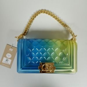 Most Wanted Transparent Two Tone Bag